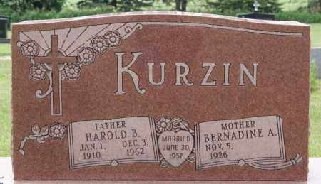 KURZIN, BERNADINE A - Lake County, South Dakota | BERNADINE A KURZIN - South Dakota Gravestone Photos