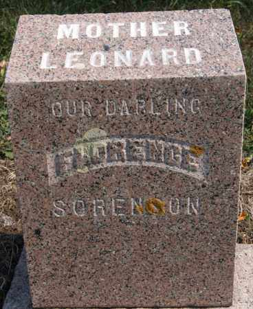 LEONARD, FLORENCE - Lake County, South Dakota | FLORENCE LEONARD - South Dakota Gravestone Photos
