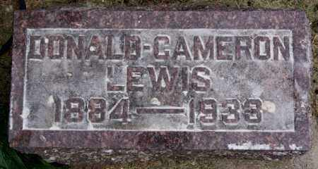 LEWIS, DONALD CAMERON - Lake County, South Dakota   DONALD CAMERON LEWIS - South Dakota Gravestone Photos