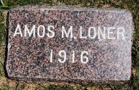 LONER, AMOS M - Lake County, South Dakota   AMOS M LONER - South Dakota Gravestone Photos
