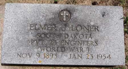 LONER, ELMER J (WWI) - Lake County, South Dakota | ELMER J (WWI) LONER - South Dakota Gravestone Photos