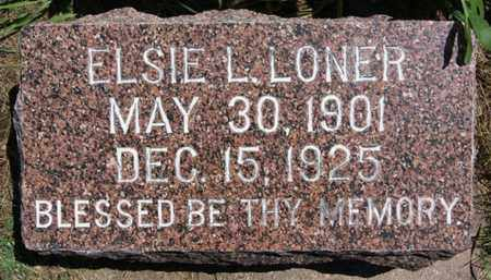 LONER, ELSIE L - Lake County, South Dakota | ELSIE L LONER - South Dakota Gravestone Photos