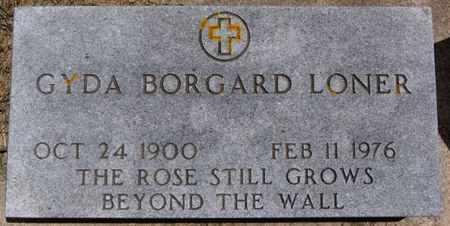 BORGARD LONER, GYDA - Lake County, South Dakota | GYDA BORGARD LONER - South Dakota Gravestone Photos