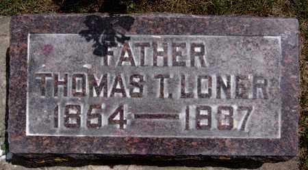 LONER, THOMAS T - Lake County, South Dakota | THOMAS T LONER - South Dakota Gravestone Photos