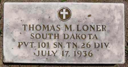 LONER, THOMAS M (MILITARY) - Lake County, South Dakota   THOMAS M (MILITARY) LONER - South Dakota Gravestone Photos