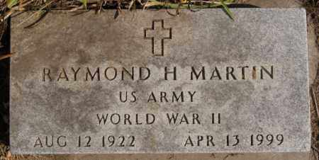 MARTIN, RAYMOND H (WWII) - Lake County, South Dakota   RAYMOND H (WWII) MARTIN - South Dakota Gravestone Photos