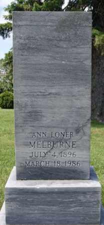 LONER MELBURNE, ANN - Lake County, South Dakota | ANN LONER MELBURNE - South Dakota Gravestone Photos