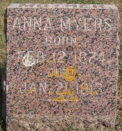 MYERS, ANNA - Lake County, South Dakota | ANNA MYERS - South Dakota Gravestone Photos