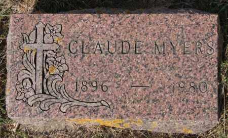 MYERS, CLAUDE - Lake County, South Dakota   CLAUDE MYERS - South Dakota Gravestone Photos