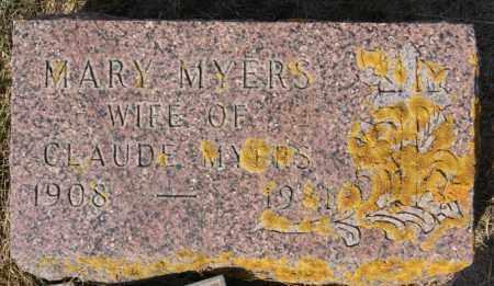 MYERS, MARY - Lake County, South Dakota | MARY MYERS - South Dakota Gravestone Photos