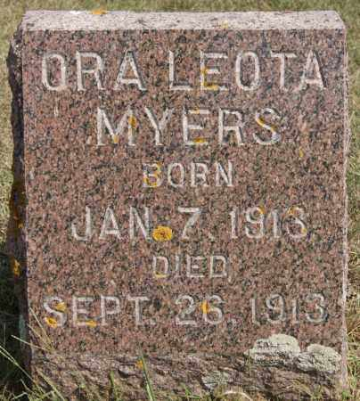 MYERS, ORA LEOTA - Lake County, South Dakota | ORA LEOTA MYERS - South Dakota Gravestone Photos
