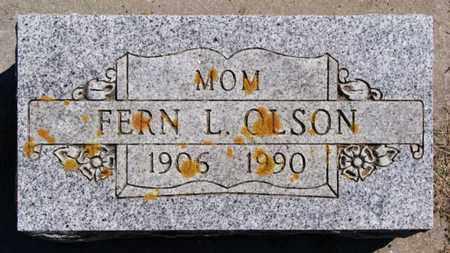 OLSON, FERN L - Lake County, South Dakota   FERN L OLSON - South Dakota Gravestone Photos