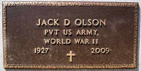 OLSON, JACK D (WWII) - Lake County, South Dakota | JACK D (WWII) OLSON - South Dakota Gravestone Photos