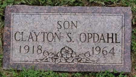 OPDAHL, CLAYTON S - Lake County, South Dakota | CLAYTON S OPDAHL - South Dakota Gravestone Photos