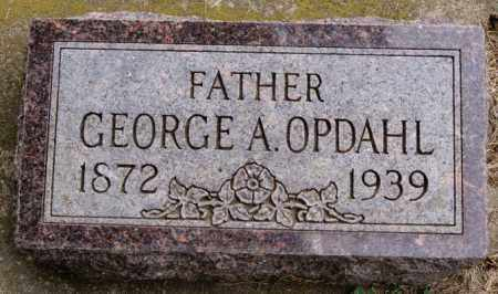 OPDAHL, GEORGE A - Lake County, South Dakota | GEORGE A OPDAHL - South Dakota Gravestone Photos