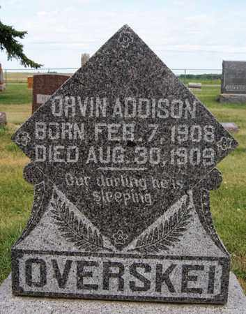 OVERSKEI, ORVIN ADDISON - Lake County, South Dakota   ORVIN ADDISON OVERSKEI - South Dakota Gravestone Photos