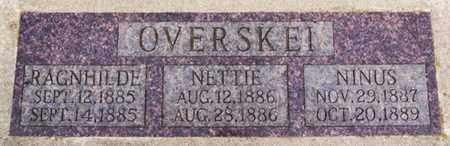 OVERSKEI, NETTIE - Lake County, South Dakota | NETTIE OVERSKEI - South Dakota Gravestone Photos