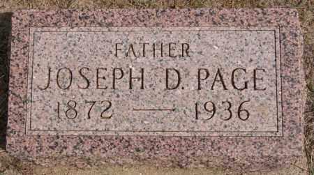 PAGE, JOSEPH D - Lake County, South Dakota | JOSEPH D PAGE - South Dakota Gravestone Photos