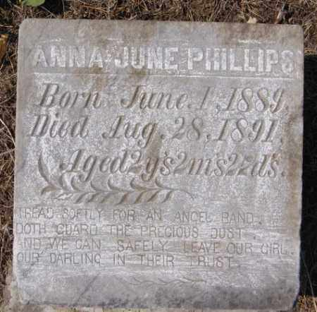 PHILLIPS, ANNA JUNE - Lake County, South Dakota | ANNA JUNE PHILLIPS - South Dakota Gravestone Photos