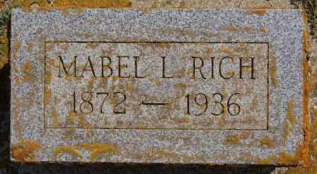 RICH, MABEL L - Lake County, South Dakota | MABEL L RICH - South Dakota Gravestone Photos