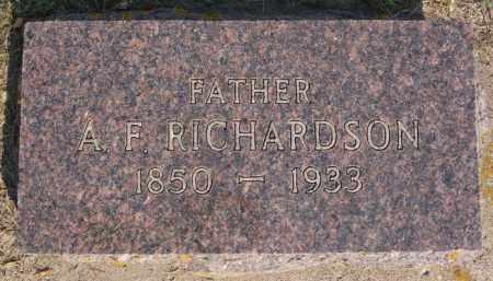RICHARDSON, ASHBURY FLETCHER - Lake County, South Dakota   ASHBURY FLETCHER RICHARDSON - South Dakota Gravestone Photos