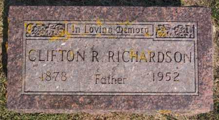 RICHARDSON, CLIFTON R - Lake County, South Dakota   CLIFTON R RICHARDSON - South Dakota Gravestone Photos