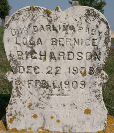 RICHARDSON, LOLA BERNICE - Lake County, South Dakota | LOLA BERNICE RICHARDSON - South Dakota Gravestone Photos