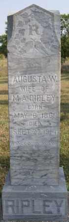 RIPLEY, AUGUSTA W - Lake County, South Dakota | AUGUSTA W RIPLEY - South Dakota Gravestone Photos
