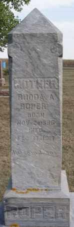 ROPER, RHODA A - Lake County, South Dakota | RHODA A ROPER - South Dakota Gravestone Photos