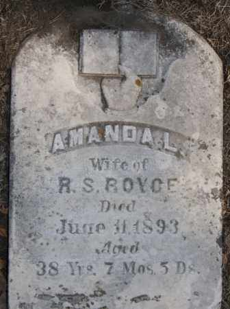 ROYCE, AMANDA L - Lake County, South Dakota | AMANDA L ROYCE - South Dakota Gravestone Photos