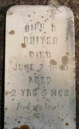 RUITER, BIRD D - Lake County, South Dakota | BIRD D RUITER - South Dakota Gravestone Photos