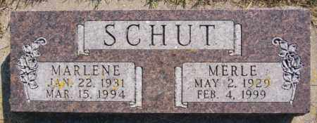 SCHUT, MERLE - Lake County, South Dakota | MERLE SCHUT - South Dakota Gravestone Photos