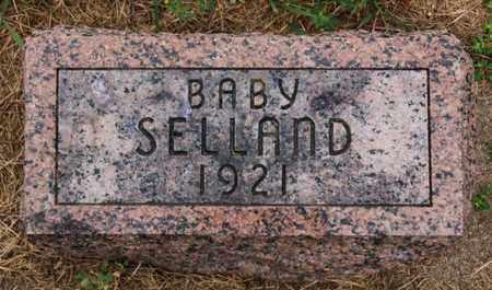 SELLAND, BABY - Lake County, South Dakota | BABY SELLAND - South Dakota Gravestone Photos