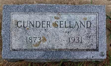 SELLAND, GUNDER - Lake County, South Dakota   GUNDER SELLAND - South Dakota Gravestone Photos