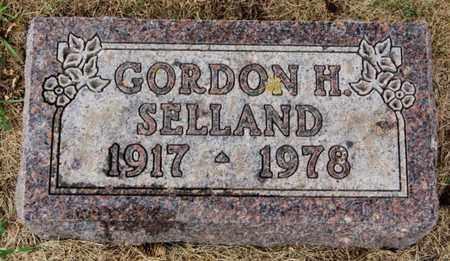 SELLAND, GORDON H - Lake County, South Dakota | GORDON H SELLAND - South Dakota Gravestone Photos