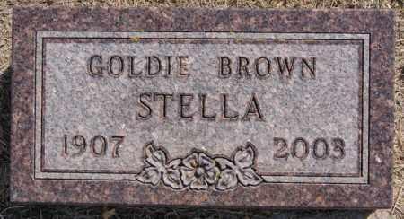 BROWN STELLA, GOLDIE - Lake County, South Dakota   GOLDIE BROWN STELLA - South Dakota Gravestone Photos