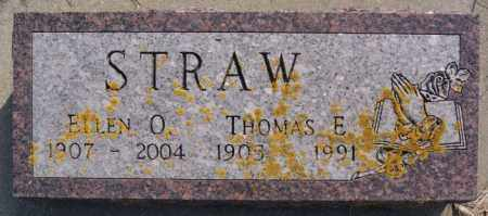 STRAW, THOMAS E - Lake County, South Dakota | THOMAS E STRAW - South Dakota Gravestone Photos