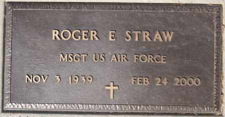 STRAW, ROGER E (MILITARY) - Lake County, South Dakota | ROGER E (MILITARY) STRAW - South Dakota Gravestone Photos
