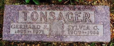 TONSAGER, GERHARD E - Lake County, South Dakota | GERHARD E TONSAGER - South Dakota Gravestone Photos