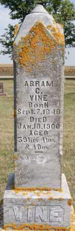VINE, ABRAM C - Lake County, South Dakota | ABRAM C VINE - South Dakota Gravestone Photos