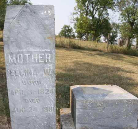 WAIT, ELGINA W - Lake County, South Dakota | ELGINA W WAIT - South Dakota Gravestone Photos
