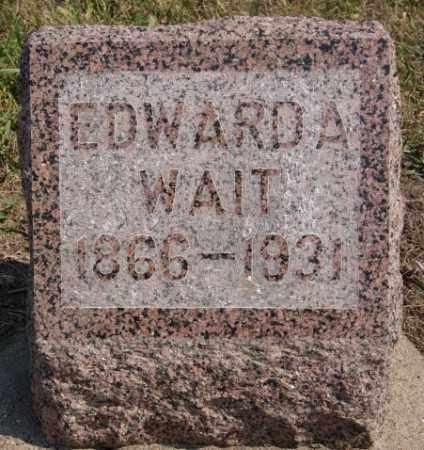 WAIT, EDWARD A - Lake County, South Dakota | EDWARD A WAIT - South Dakota Gravestone Photos