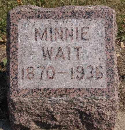 WAIT, MINNIE - Lake County, South Dakota | MINNIE WAIT - South Dakota Gravestone Photos