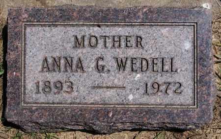 WEDELL, ANNA G - Lake County, South Dakota   ANNA G WEDELL - South Dakota Gravestone Photos