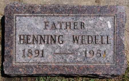 WEDELL, HENNING - Lake County, South Dakota | HENNING WEDELL - South Dakota Gravestone Photos