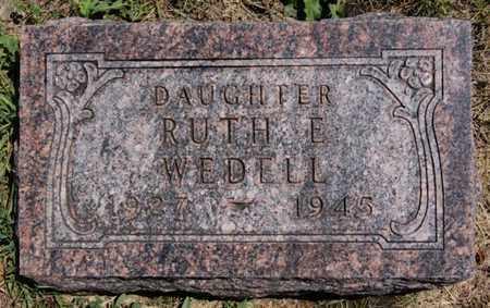 WEDELL, RUTH E - Lake County, South Dakota | RUTH E WEDELL - South Dakota Gravestone Photos