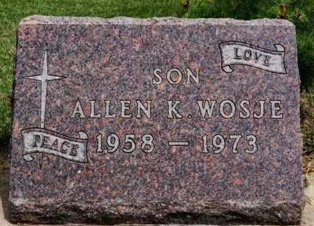 WOSJE, ALLEN K - Lake County, South Dakota | ALLEN K WOSJE - South Dakota Gravestone Photos