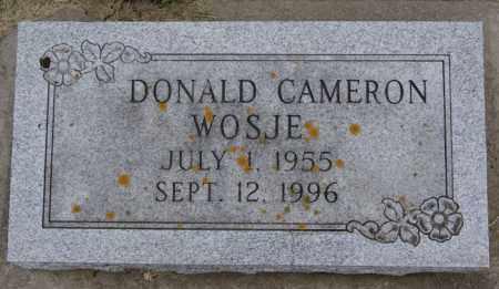 WOSJE, DONALD CAMERON - Lake County, South Dakota   DONALD CAMERON WOSJE - South Dakota Gravestone Photos