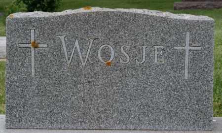 WOSJE, FAMILY MARKER - Lake County, South Dakota   FAMILY MARKER WOSJE - South Dakota Gravestone Photos