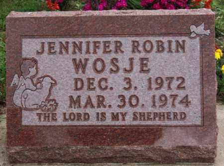WOSJE, JENNIFER ROBIN - Lake County, South Dakota | JENNIFER ROBIN WOSJE - South Dakota Gravestone Photos